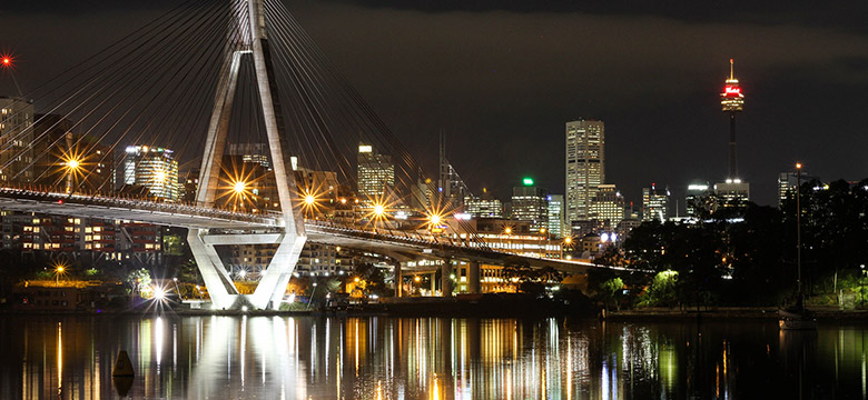 Monochrome city view